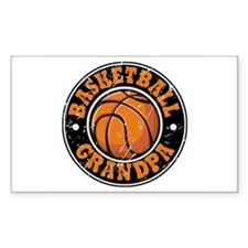 Basketball Grandpa Rectangle Decal