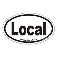 Local Euro Oval Sticker for Jersey Shore