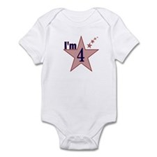 I'm 4 Boys Birthday Infant Bodysuit