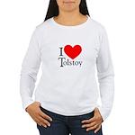 I Love Tolstoy Women's Long Sleeve T-Shirt