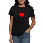 I Love Tolstoy Women's Dark T-Shirt