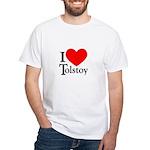 I Love Tolstoy White T-Shirt
