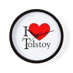 I Love Tolstoy Wall Clock
