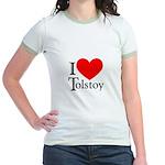 I Love Tolstoy Jr. Ringer T-Shirt