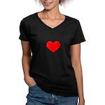 I Love Tolstoy Women's V-Neck Dark T-Shirt