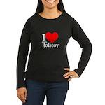 I Love Tolstoy Women's Long Sleeve Dark T-Shirt