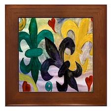 Mardi Gras Fleur de Lis Framed Tile