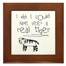 No More Tigers Framed Tile