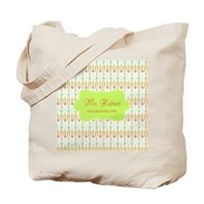 Green Paper Clips Teachers Personalized Tote Bag
