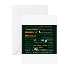 Walter White Quotes Greeting Card