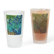 Van Gogh Garden Irises Drinking Glass