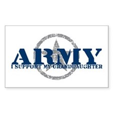 Army - I Support My Granddaughter Decal