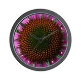 Purple Cone Flower Wall Clock