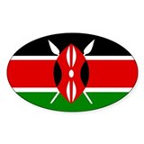 Kenyan Flag Oval Decal