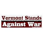 Vermont Against War Bumper Sticker