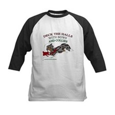 Holiday Collie Merle Baseball Jersey