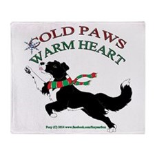 Holiday Paws Border Collie B&W Throw Blanket