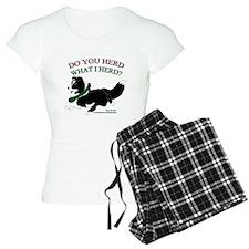 Holiday Sheltie Bi-Black Pajamas