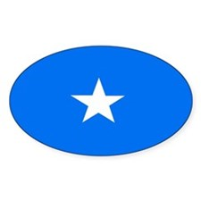 Somalian Flag Oval Decal