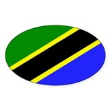 Tanzanian Flag Oval Decal