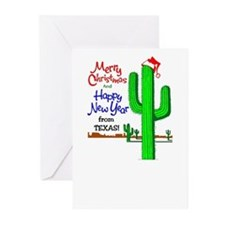 Cool Happy new year merry christmas Greeting Cards (Pk of 20)