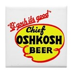 Chief Oshkosh Beer-1952 Tile Coaster