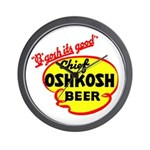 Chief Oshkosh Beer-1952 Wall Clock