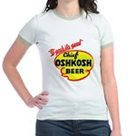 Chief Oshkosh Beer-1952 Jr. Ringer T-Shirt