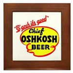 Chief Oshkosh Beer-1952 Framed Tile