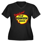Chief Oshkosh Beer-1952 Women's Plus Size V-Neck D