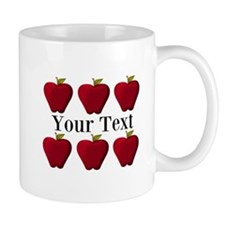 Personalizable Red Apples Mugs