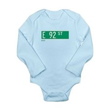 Cute Nystreets Long Sleeve Infant Bodysuit