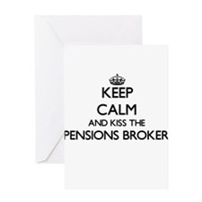Keep calm and kiss the Pensions Bro Greeting Cards