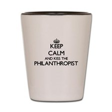 Keep calm and kiss the Philanthropist Shot Glass