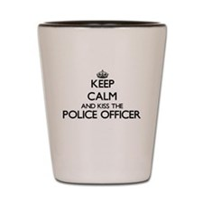 Keep calm and kiss the Police Officer Shot Glass