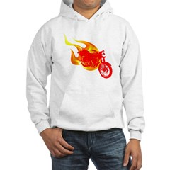 Red Motorcycle Hooded Sweatshirt