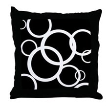 Black and White Throw Pillow with Circles