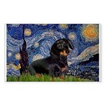 Starry Night Dachshund Sticker (Rectangle)