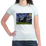 Starry Night Dachshund Jr. Ringer T-Shirt