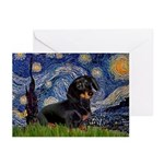 Starry Night Dachshund Greeting Cards (Pk of 10)