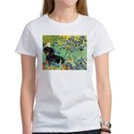 Irises & Dachshund (BT4) Women's T-Shirt