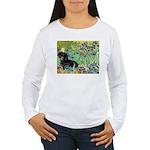 Irises & Dachshund (BT4) Women's Long Sleeve T-Shi