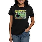 Irises & Dachshund (BT4) Women's Dark T-Shirt