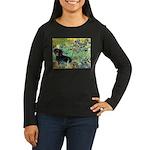 Irises & Dachshund (BT4) Women's Long Sleeve Dark