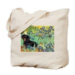 Irises & Dachshund (BT4) Tote Bag