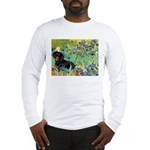 Irises & Dachshund (BT4) Long Sleeve T-Shirt