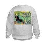 Irises & Dachshund (BT4) Kids Sweatshirt