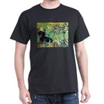 Irises & Dachshund (BT4) Dark T-Shirt