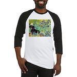 Irises & Dachshund (BT4) Baseball Jersey