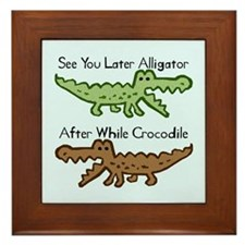 Alligator and Crocodile Framed Tile